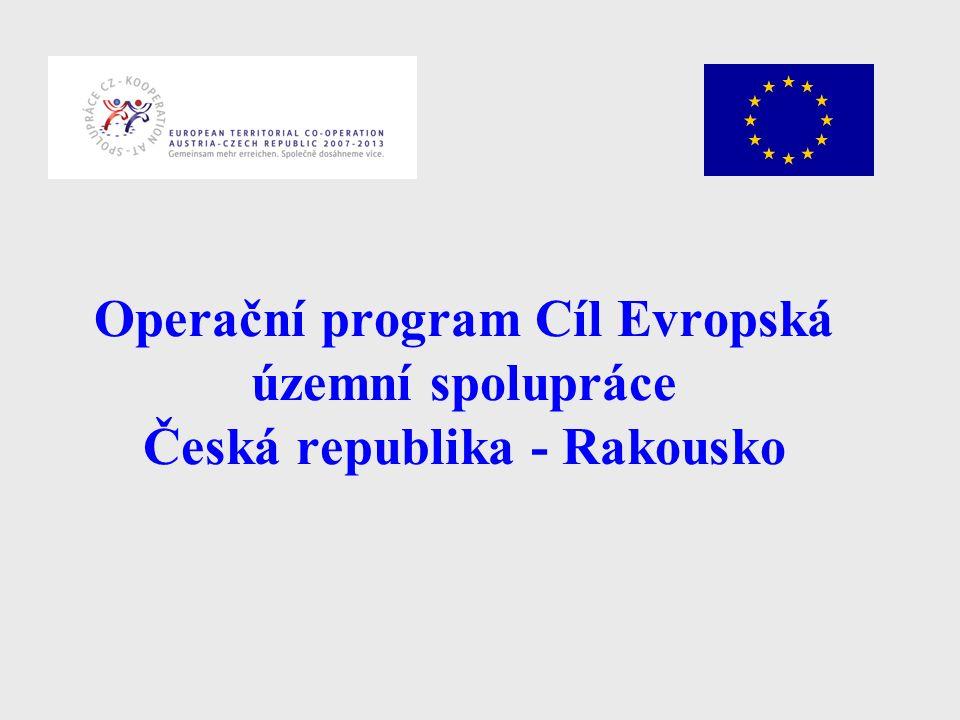 Operační program Cíl Evropská územní spolupráce Česká republika - Rakousko