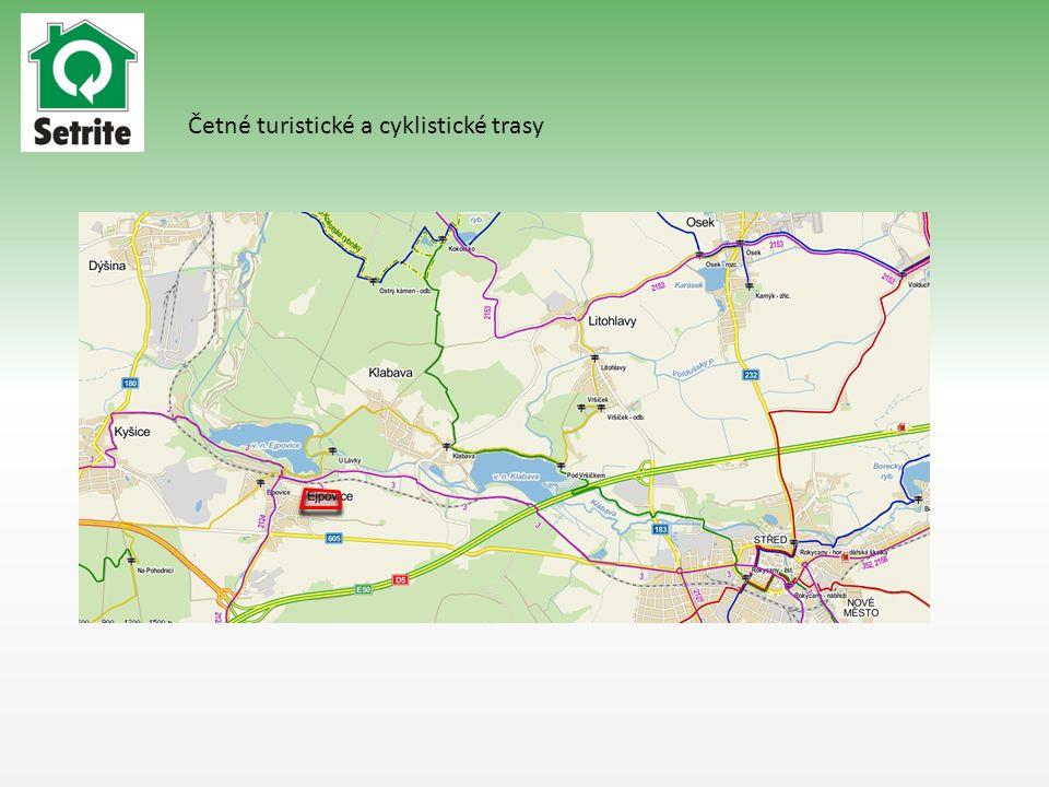 Četné turistické a cyklistické trasy