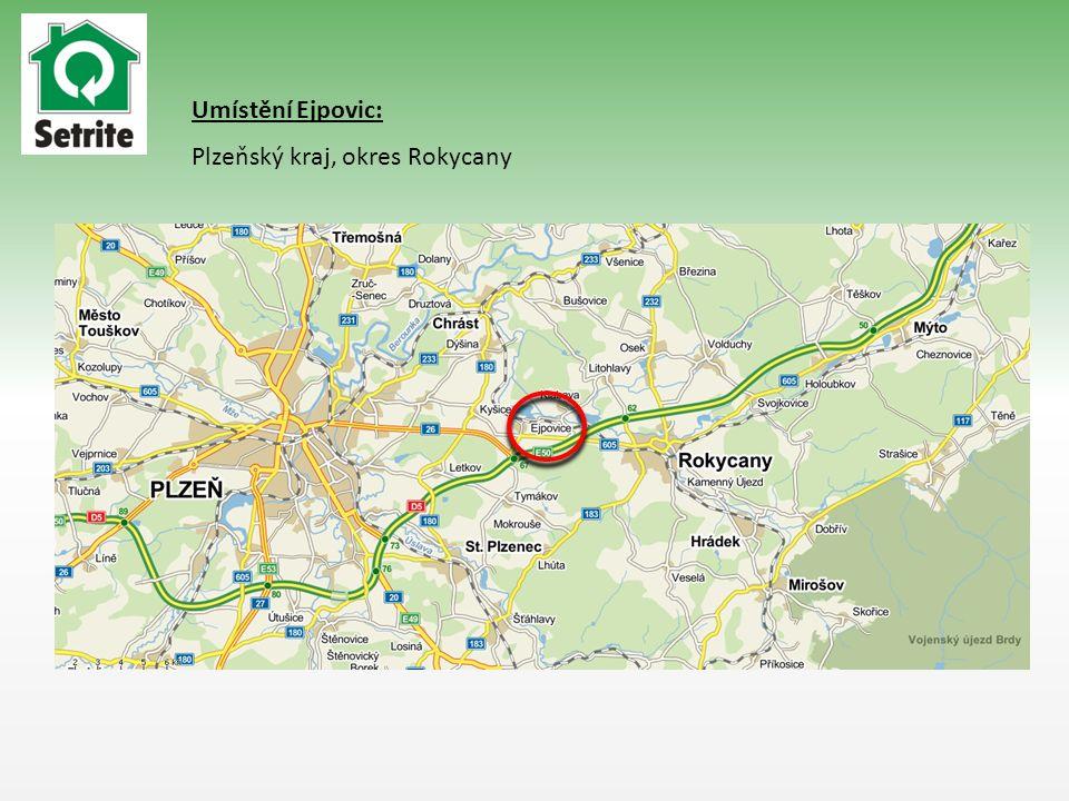 Umístění Ejpovic: Plzeňský kraj, okres Rokycany