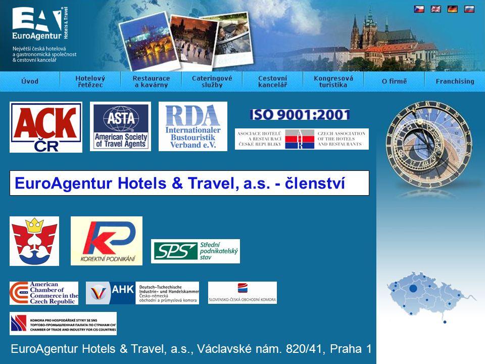 EuroAgentur Hotels & Travel, a.s.- členství EuroAgentur Hotels & Travel, a.s., Václavské nám.