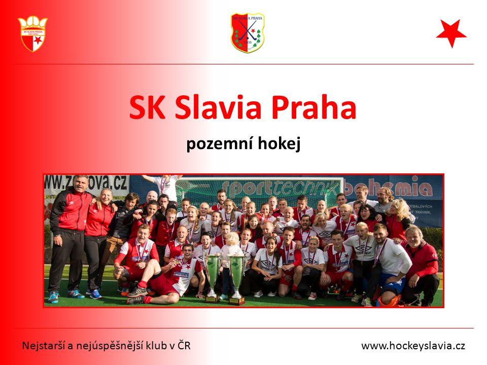 SK Slavia Praha pozemní hokej Nejstarší a nejúspěšnější klub v ČR www.hockeyslavia.cz