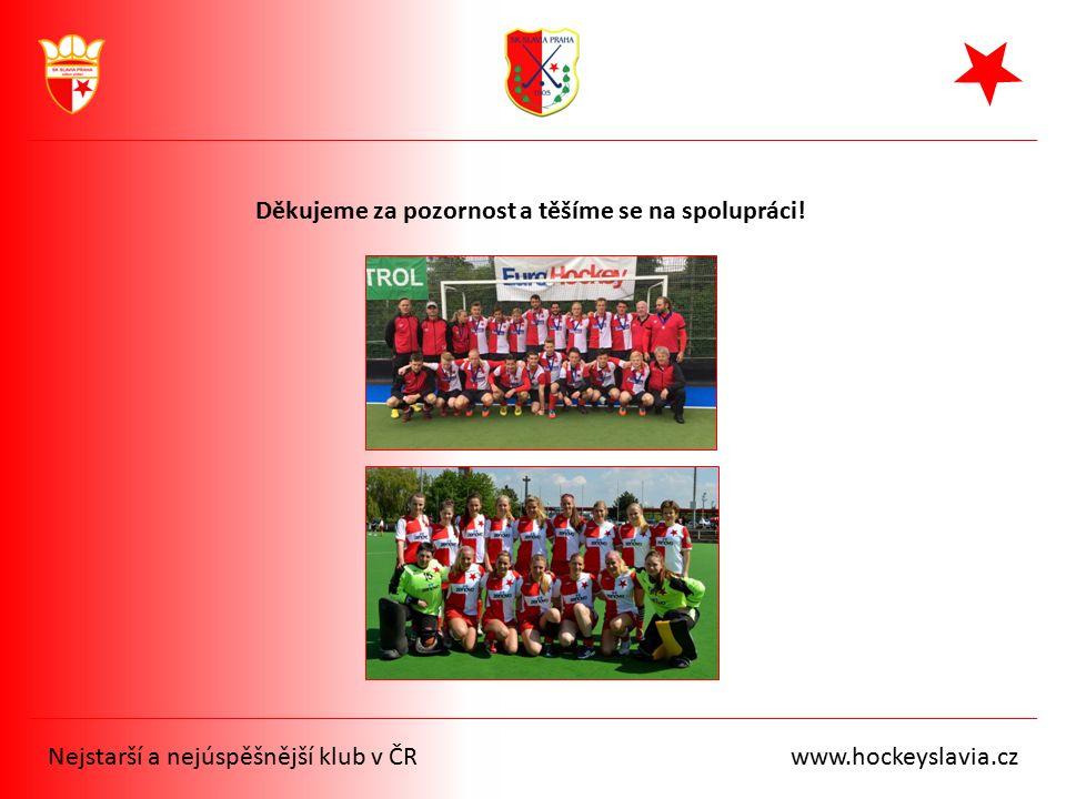 Nejstarší a nejúspěšnější klub v ČR www.hockeyslavia.cz Děkujeme za pozornost a těšíme se na spolupráci!