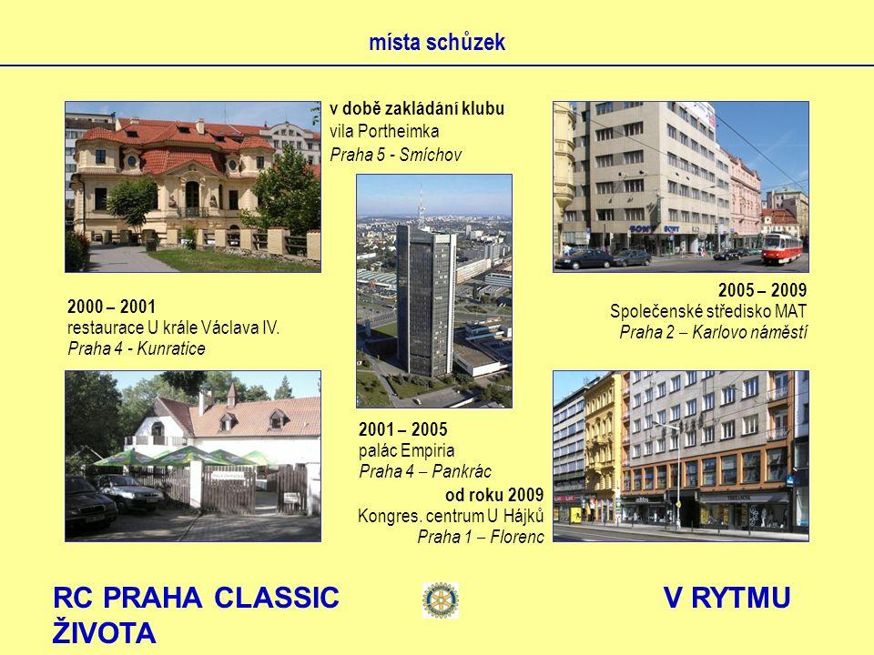 RC PRAHA CLASSIC V RYTMU ŽIVOTA partnerské kluby RC Benyamina D-2490 RC Stuttgart – Solitude D-1830