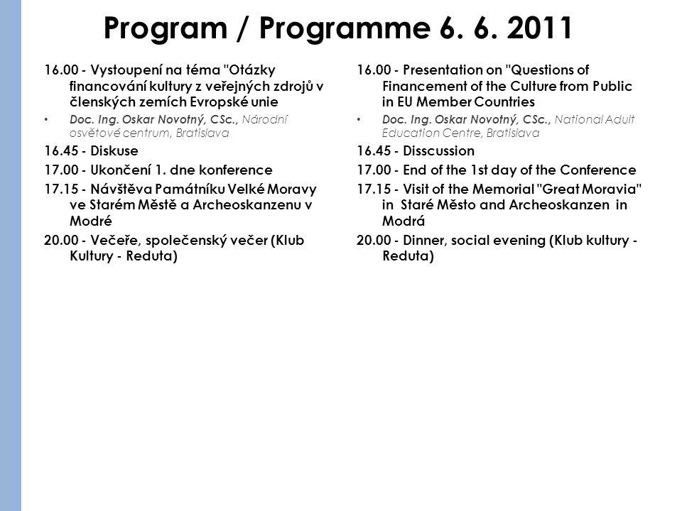 Program / Programme 6. 6.