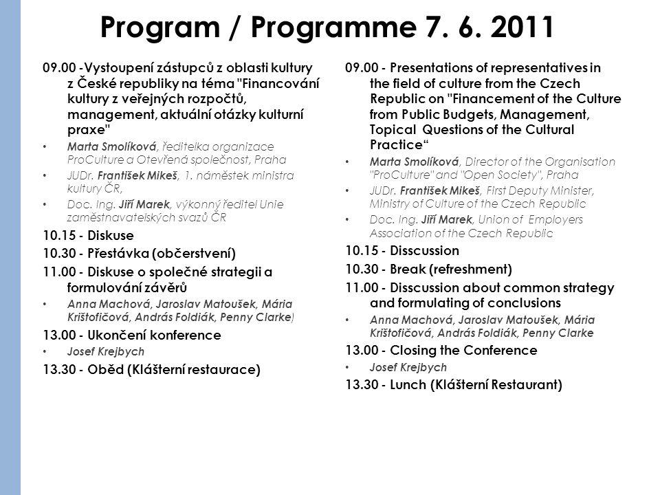 Program / Programme 7. 6.