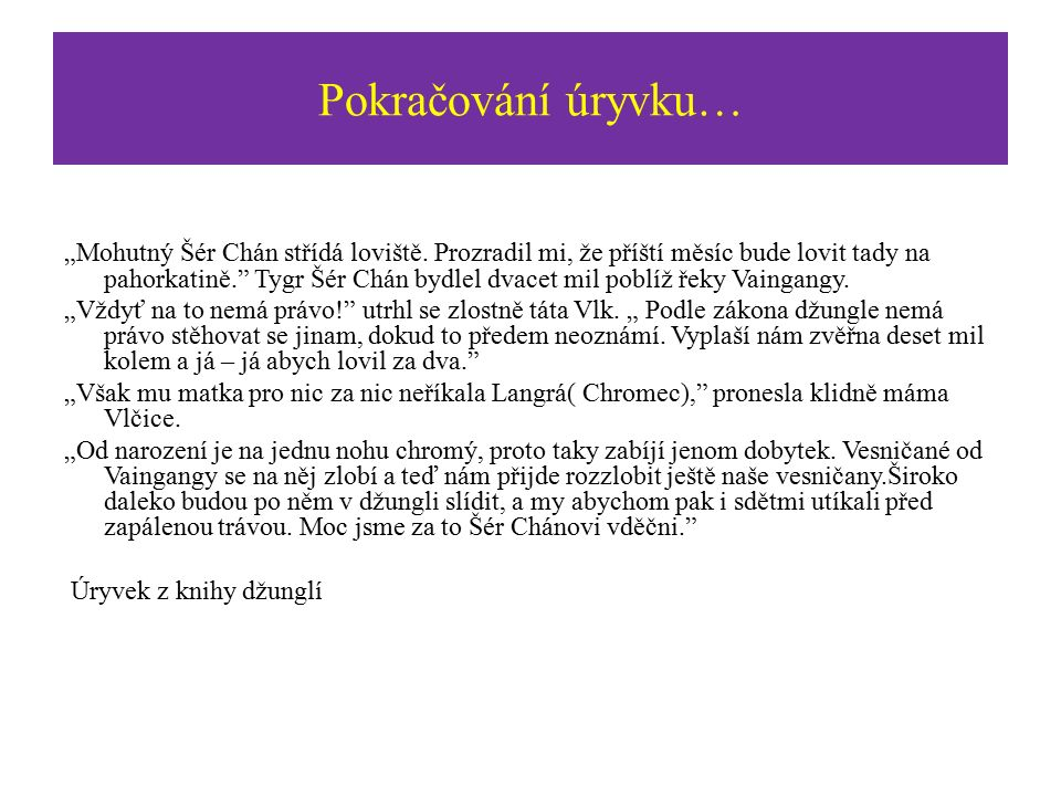Úryvek z knihy Dusno bylo ten večer v Séónijské pahorkatině.