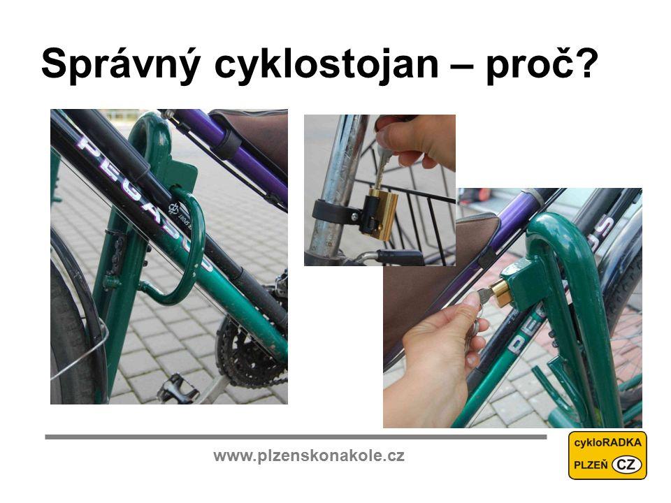 www.plzenskonakole.cz Správný cyklostojan – proč