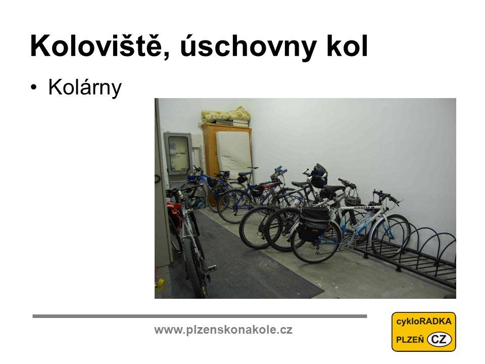 www.plzenskonakole.cz Koloviště, úschovny kol Kolárny