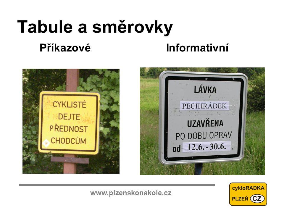 www.plzenskonakole.cz Tabule a směrovky PříkazovéInformativní
