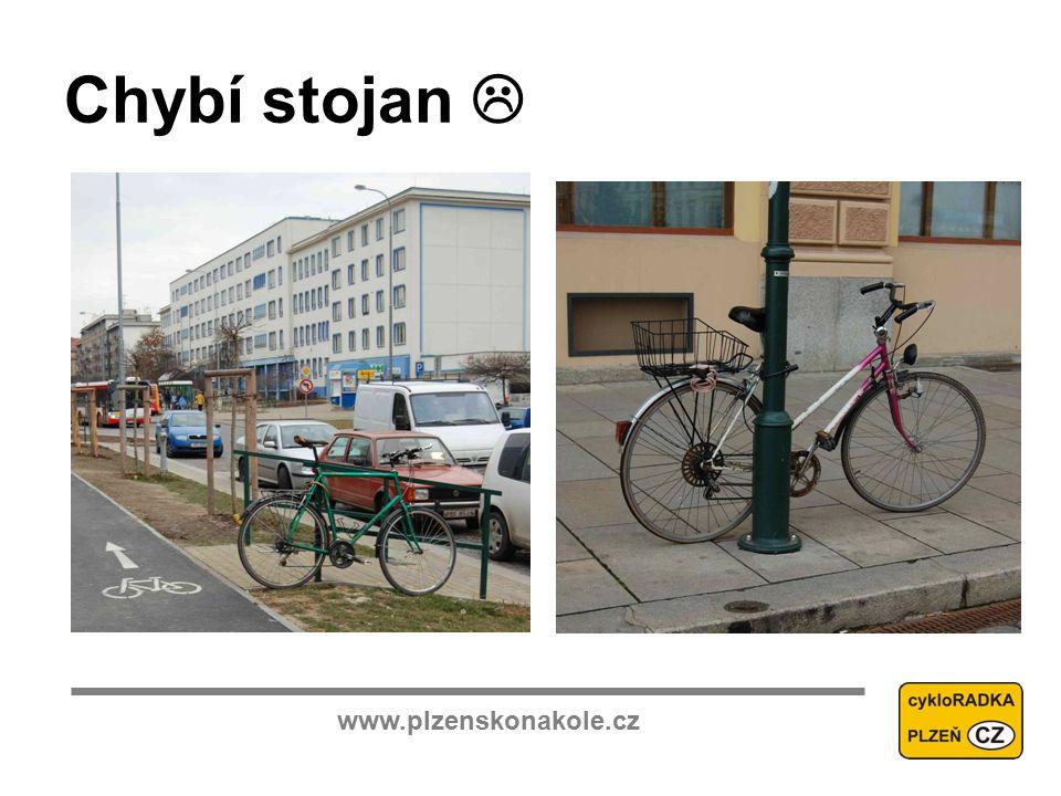 www.plzenskonakole.cz Chybí stojan 