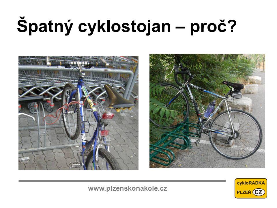 www.plzenskonakole.cz Špatný cyklostojan – proč