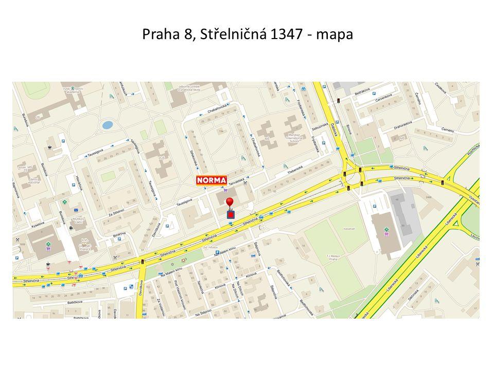 Praha 8, Střelničná 1347 - mapa