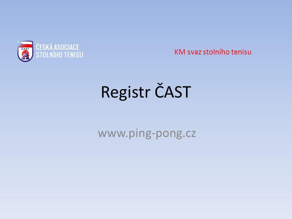Obnova registrace Obnova se provádí, pokud je potřeba změnit údaje o členech klubu – změna adresy, kontaktních údajů, změna fotografie… Postup je v podstatě totožný jako u nové registrace