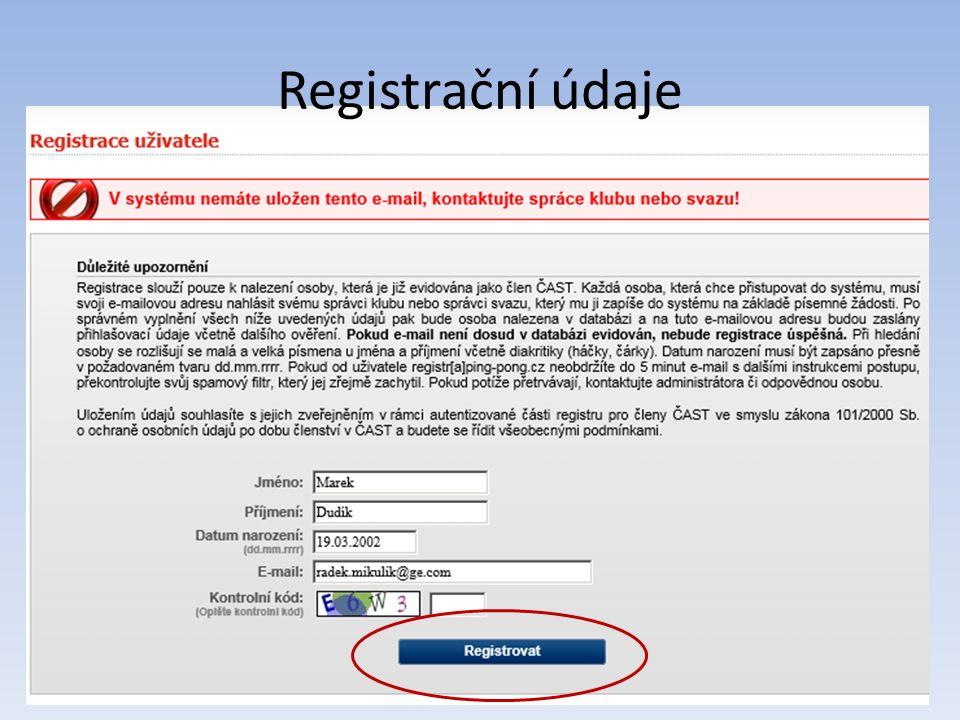 Přístupy, aktivace a hesla Aktivační mail – doporučuji si mail uložit Aktivační odkaz – ID login – nastavené heslo