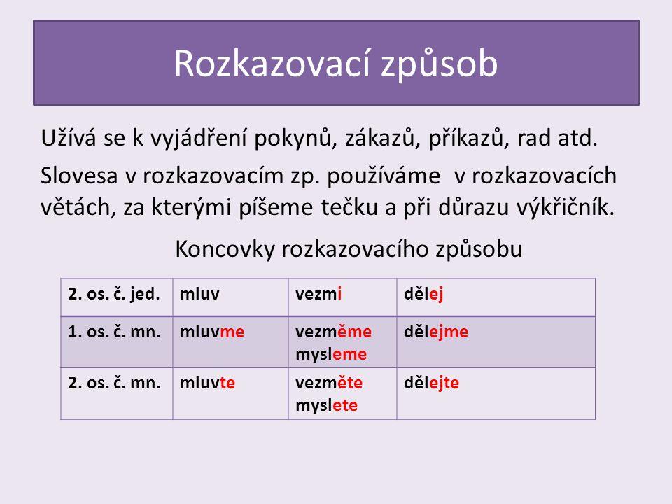 Utvoř tvary rozkazovacího způsobu.sloveso2. os. č.