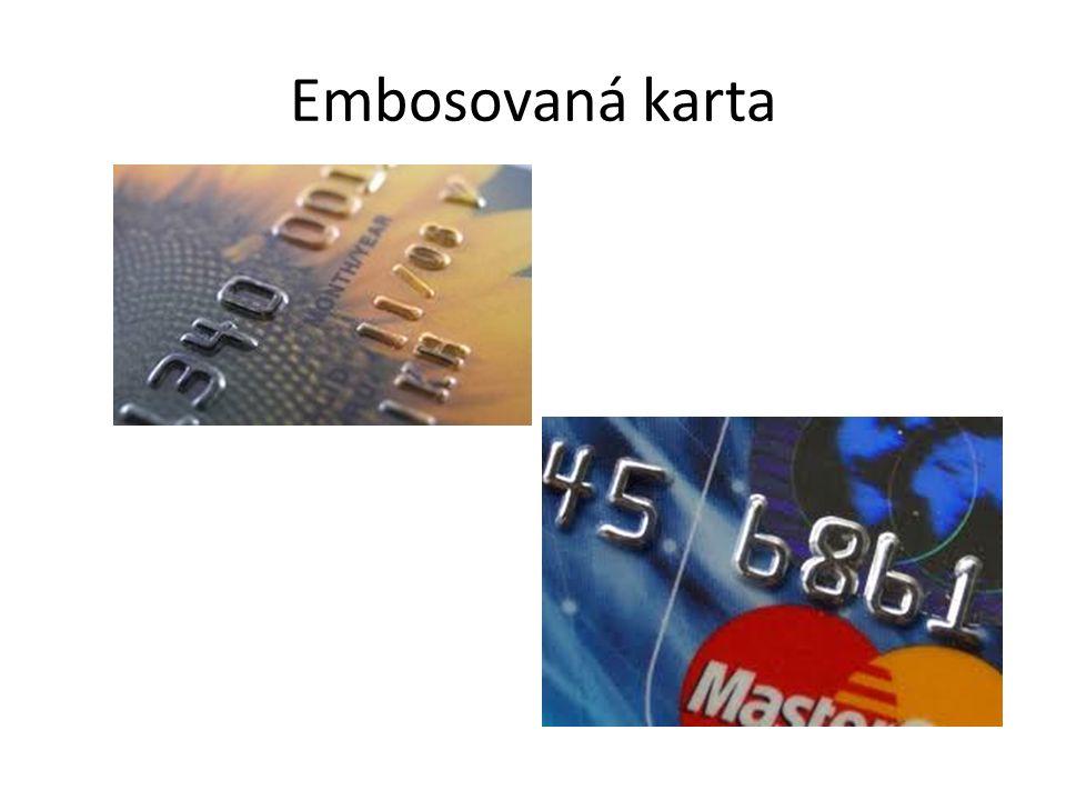 Embosovaná karta