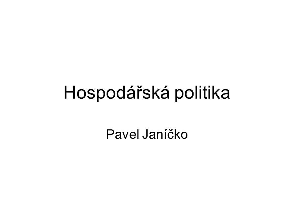 Hospodářská politika Pavel Janíčko