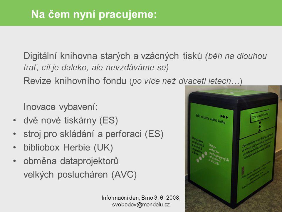 Informační den, Brno 3. 6.
