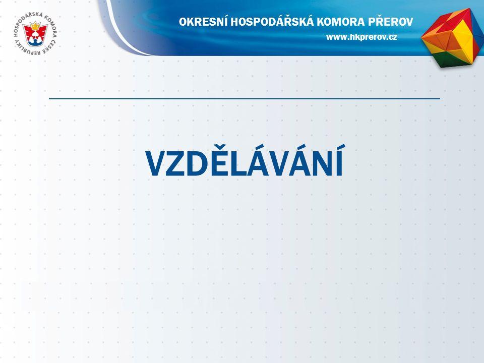 VZDĚLÁVÁNÍ www.hkprerov.cz OKRESNÍ HOSPODÁŘSKÁ KOMORA PŘEROV