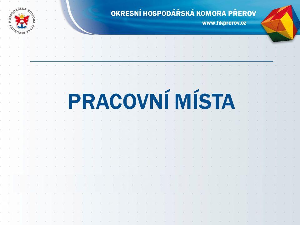 PRACOVNÍ MÍSTA www.hkprerov.cz OKRESNÍ HOSPODÁŘSKÁ KOMORA PŘEROV
