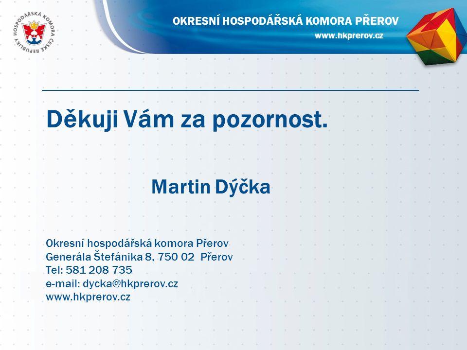 www.hkprerov.cz OKRESNÍ HOSPODÁŘSKÁ KOMORA PŘEROV Děkuji Vám za pozornost.