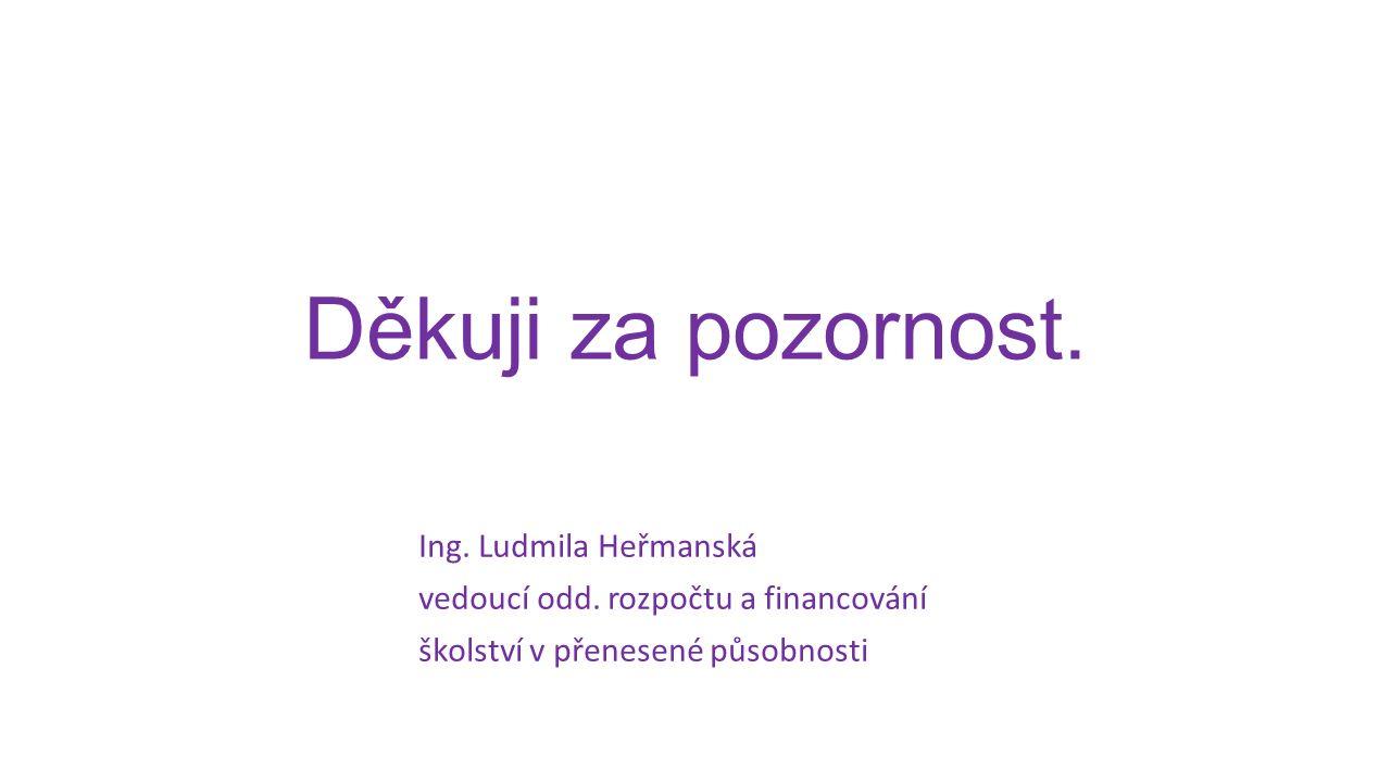 Děkuji za pozornost. Ing. Ludmila Heřmanská vedoucí odd.