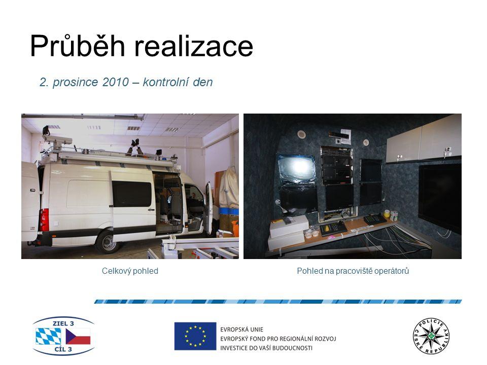 Průběh realizace 2. prosince 2010 – kontrolní den Celkový pohledPohled na pracoviště operátorů