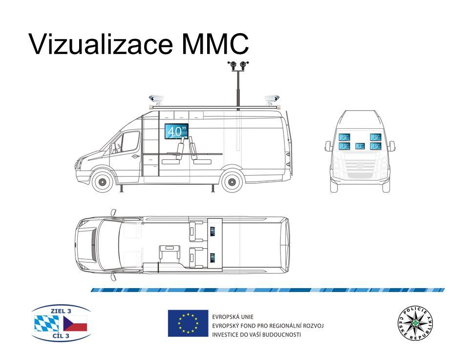 """Průběh projektu Listopad 2009 nákup """"holého vozu VW Crafter 50 Listopad 2009 – červenec 2010 specifikace požadavků pro vypsání výběrového řízení Červen 2010 vypsání výběrového řízení na dodání technologie do MMC Srpen 2010 výběr realizační firmy – na základě výběrového řízení vybrána firma ORZO Security spol."""
