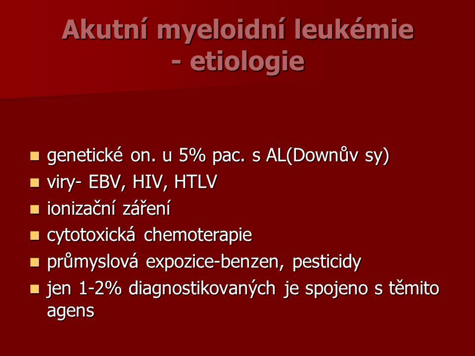 Akutní myeloidní leukémie - etiologie genetické on.
