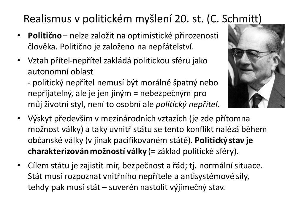Realismus v politickém myšlení 20.st. (C.