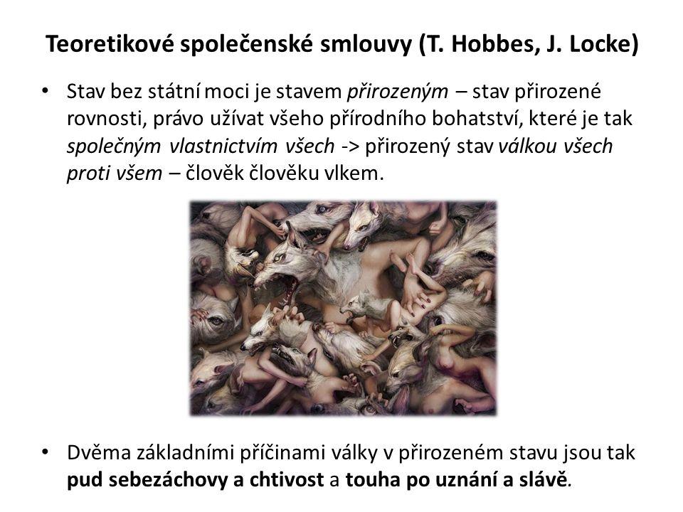 Teoretikové společenské smlouvy (T.Hobbes, J.