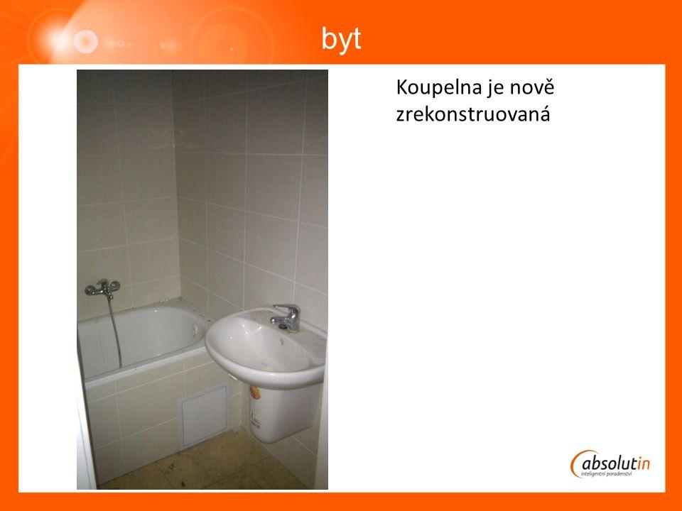 byt Koupelna je nově zrekonstruovaná