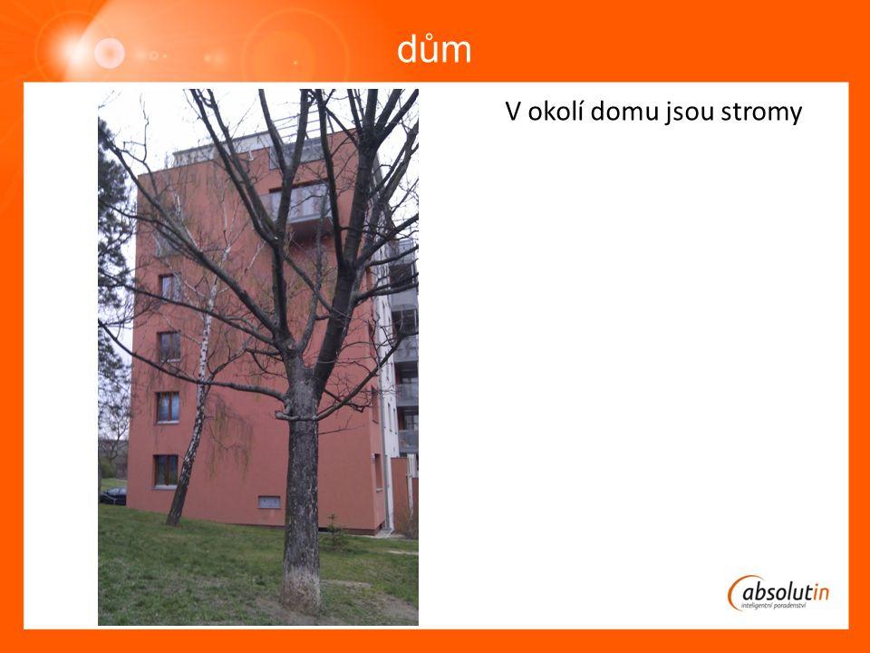 dům V okolí domu jsou stromy