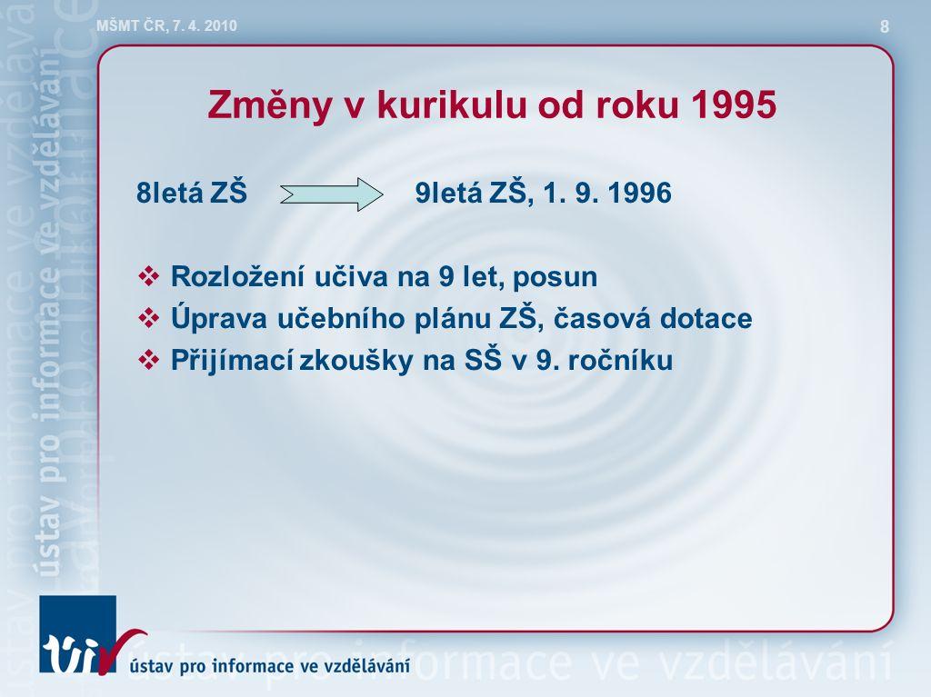 MŠMT ČR, 7. 4. 2010 8 8letá ZŠ9letá ZŠ, 1. 9.