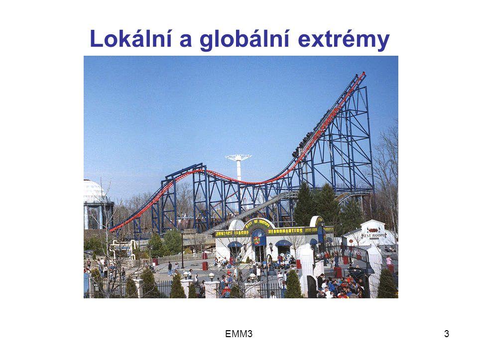 EMM34 Existence řešení Věta 1Spojitá funkce nabývá na uzavřené omezené množině X svého globálního maxima (globálního minima)....