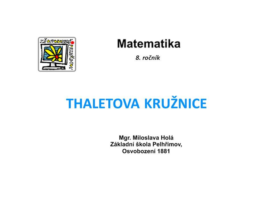 8. ročník THALETOVA KRUŽNICE
