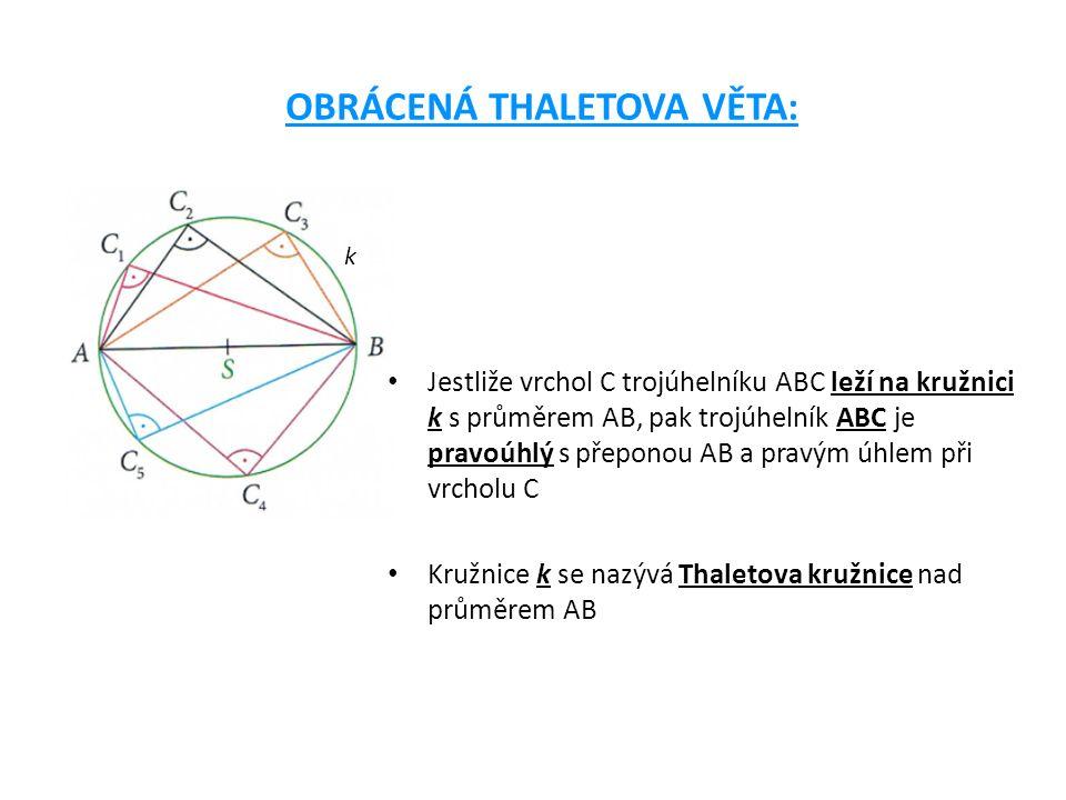 Thaletova věta a vnitřní úhly pravoúhlého trojúhelníku: Součet vnitřních úhlů při přeponě trojúhelníku je vždy 90°.