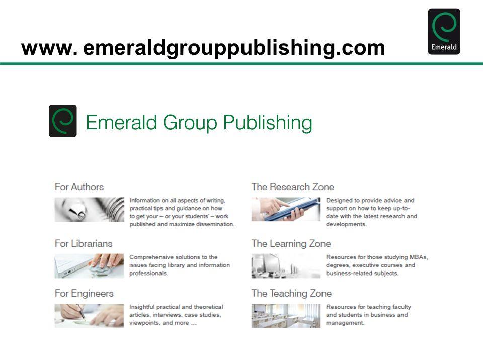 www. emeraldgrouppublishing.com