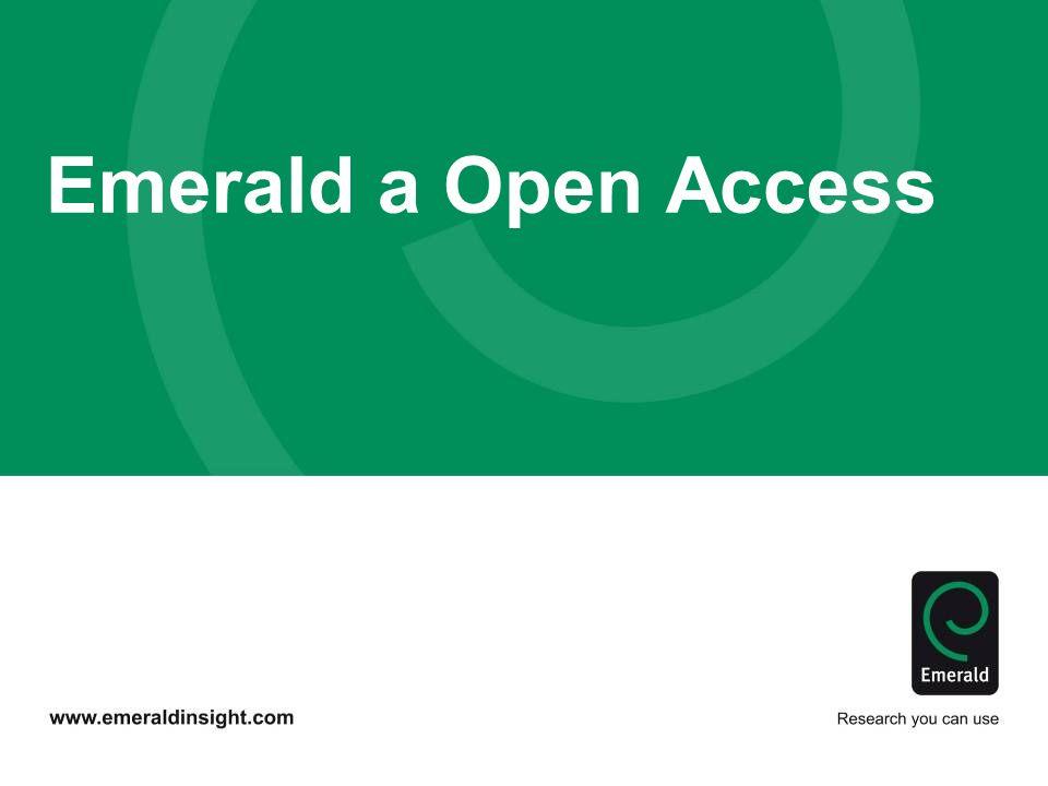 Emerald a Open Access