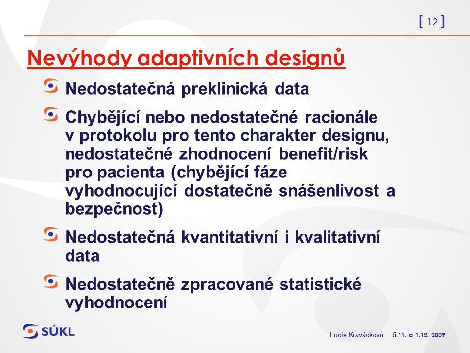 [ 12 ] Lucie Kraváčková - 5.11. a 1.12.