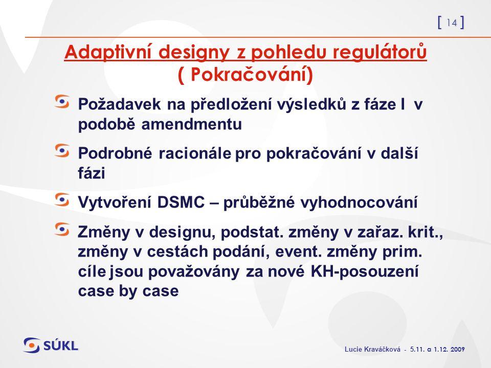 [ 14 ] Lucie Kraváčková - 5.11. a 1.12.