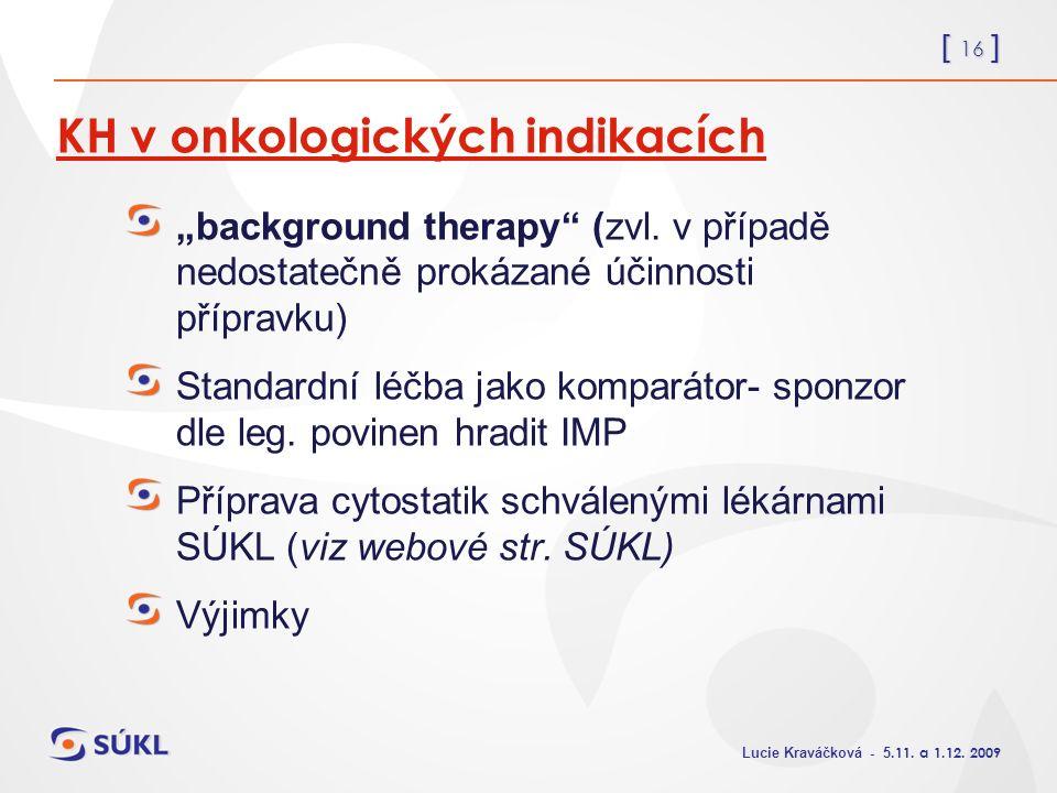 [ 16 ] Lucie Kraváčková - 5.11. a 1.12.