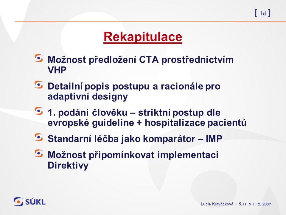 [ 18 ] Lucie Kraváčková - 5.11. a 1.12.