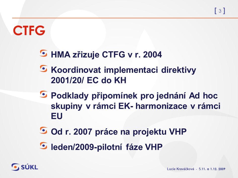 [ 3 ] Lucie Kraváčková - 5.11. a 1.12. 2009 CTFG HMA zřizuje CTFG v r.