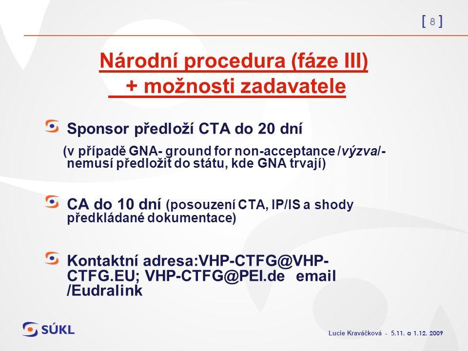 [ 8 ] Lucie Kraváčková - 5.11. a 1.12.