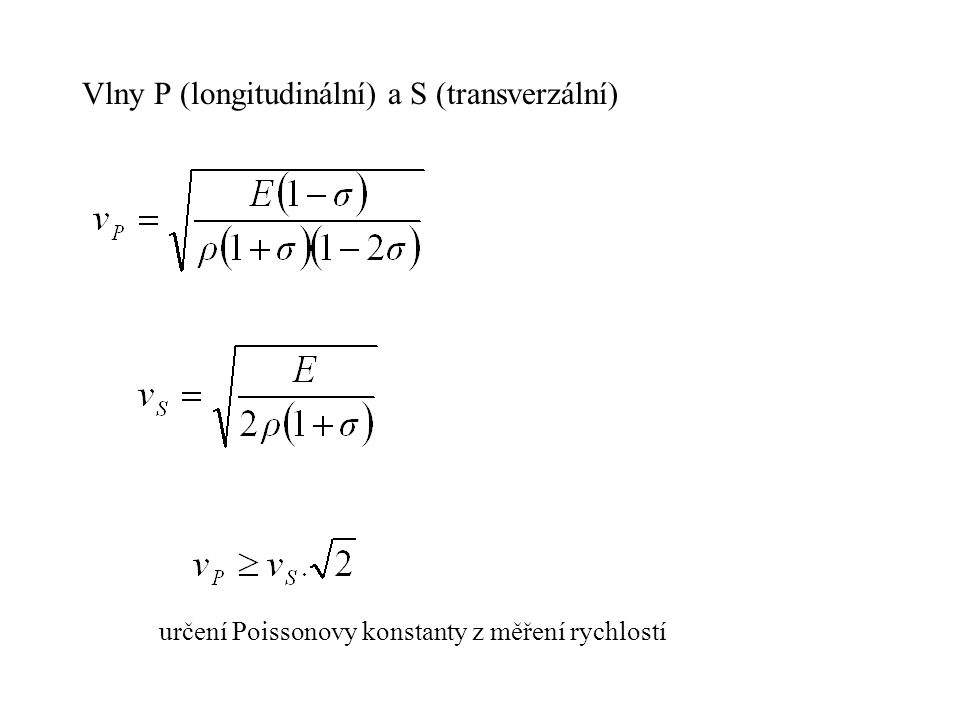 METODA ODRAŽENÝCH VLN STATICKÉ KOREKCE – měření vztaženo ke srovnávací hladině - oprava na VMR - oprava na reliéf - oprava na hloubku zdroje KINEMATICKÁ KOREKCE ΔT (čas t 0 pro x/2) T(x) – ΔT = t 0 = x 2 / (v 2.t) SYSTÉMY MĚŘENÍ: - dvojice vstřícných hodochron - metoda společného reflexního bodu (SRB, CDP, CMP) středové uspořádání, koncové uspořádání