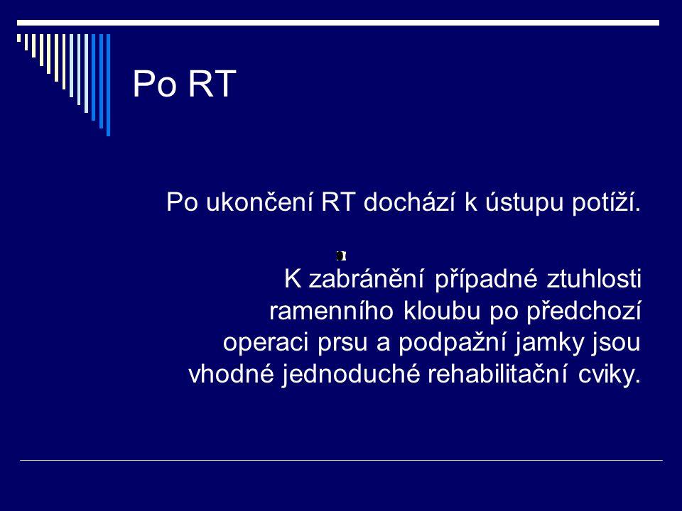 Po RT Po ukončení RT dochází k ústupu potíží.