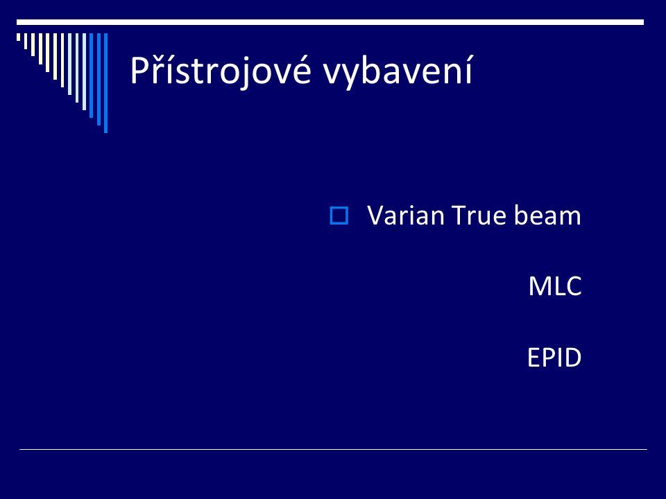 Přístrojové vybavení  Varian True beam MLC EPID