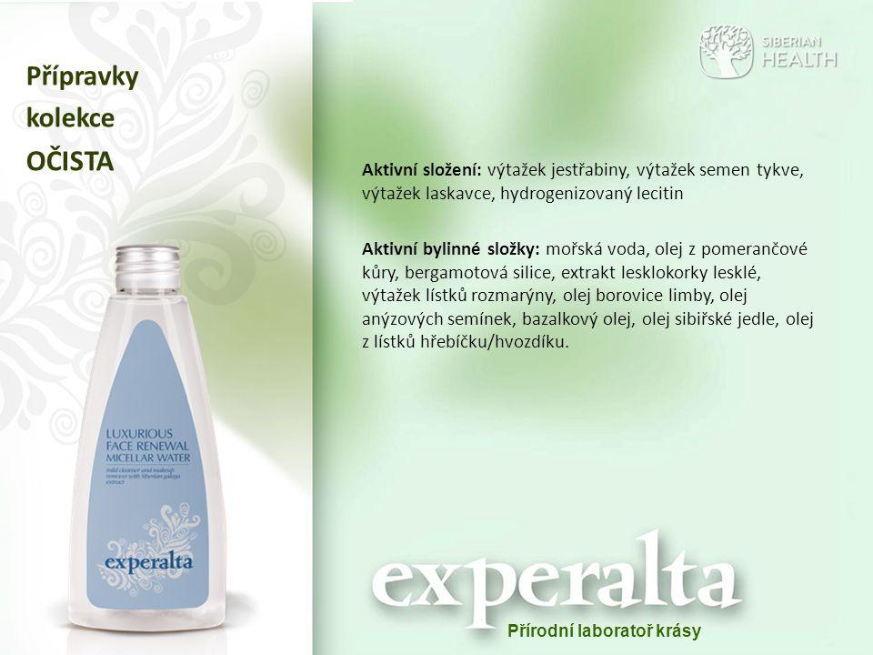 Аktivní složení: výtažek jestřabiny, výtažek semen tykve, výtažek laskavce, hydrogenizovaný lecitin Aktivní bylinné složky: mořská voda, olej z pomera
