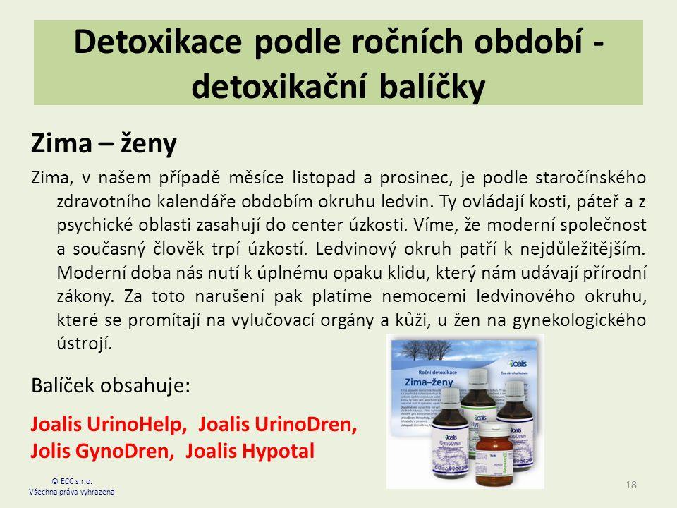 Detoxikace podle ročních období - detoxikační balíčky Zima – ženy Zima, v našem případě měsíce listopad a prosinec, je podle staročínského zdravotního kalendáře obdobím okruhu ledvin.